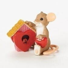 # New Charming Tails Mouse Figurine Sweet Home Filled Love Mice Statue Sculpture