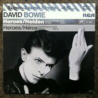 "DAVID BOWIE - HEROES - HELDEN - HEROS 12"" VINYL RARE GERMAN. VGC + FREE Poster."