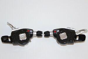 SRAM X0 X-0 CARBON SHIFTERS / GEAR LEVERS 3 X 9 SPEED MOUNTAIN BIKE