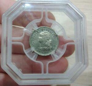 Portugal Angola 10 Centavos (II Macutas) 1928 Graded 65