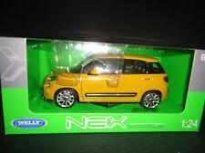 WELLY FIAT 500L 2013 jaune 1/24