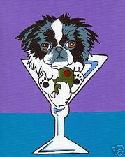 Japanese Chin Martini Dog Pop Art Print Vern Painting