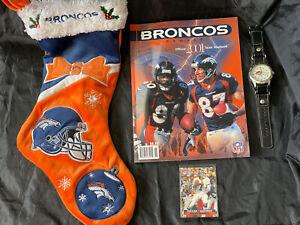 🏈Denver Broncos Memorabilia  Pack w/ Official 2001 Team Yearbook & more!