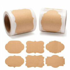 300PCS Self-Adhesive Diy Bakery Packaging Labels Blank Stickers Party/Wedding