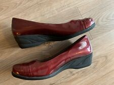 NEW - Womens HUSH PUPPIES Patent Red Wedges Size 10M
