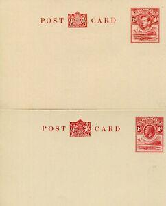 BASUTOLAND 1933-53 POSTAL CARDS HG1, 4/5, RGISTERED ENVELOPE HG1