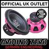 "Ground Zero Iridium GZIW 12SPL Pink 12"" Dual 2 ohm 1000 Watts SPL Car Subwoofer"