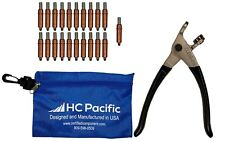 25 Each C14 Cleco Fasteners Made In Usa With Cleco Pliers Amp Pouch
