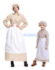 C2 Women Girl Victorian Maid Old Lady Grandma Classic Village Dress Costume