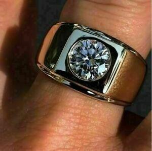 1.76 Ct Diamond Bold And Brilliant Engagement Wedding Men's Ring 14K White Gold