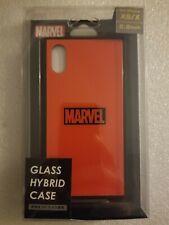 "NIB Marvel Comics ""Glass"" Hybrid Phone Case For IPhone XS/X clean red/black logo"