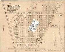 1924 RADIO STATION MAP Chicago Heights Zion Belvidere Oak Park Rockford IL HUGE