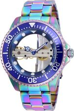 Invicta 26480 Pro Diver Men's 47mm Mechanical Skeleton Iridescent-Tone Steel