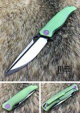 WE Knife 606B Drop Point S35VN Titanium Frame Lock Folding Knife