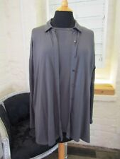 EILEEN FISHER -XS- grey 3/4 sleeve top and cardigan 2 piece