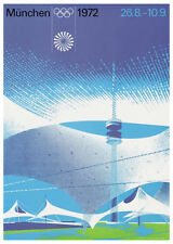 MUNICH GERMANY 1972 Summer Olympic Games Official Olympic Museum POSTER Reprint