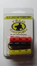 NEW TEAM CATFISH Multi Color Dip Tubes J-Hook 6Pk EZJMCJ-6