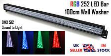 RGB 252 LED Bar 100cm 1m Wall Washer Effect DMX Sound DJ Stage Uplighter Batton