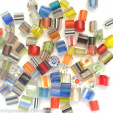 Multi Glass Square Jewellery Making Beads