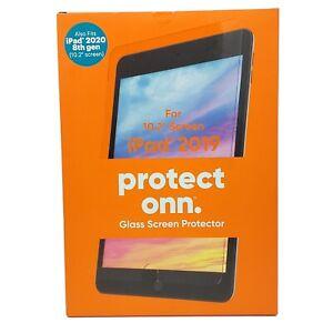 "Onn Protect Glass Screen Protector iPad 2019 10.2"" New Free Shipping iPad 2020"