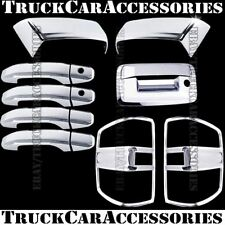For Silverado+HD 2014 2015 2016 Chrome Covers Mirrors+Doors+Tail Lights+Tailgate