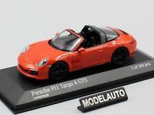 Porsche 911 Type 991 Targa 4 GTS Phase II 2016 Lava Orange 1/43 MINICHAMPS 41006