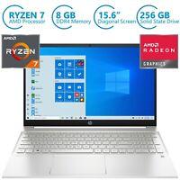 "NEW HP PAVILION 15.6"" Laptop AMD Ryzen 7- 8GB RAM- 256GB SSD- HDMI-B&O-Windows10"