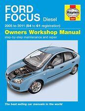 Haynes Owners Workshop Manual Ford Focus Diesel (05 - 11) SERVICE REPAIR