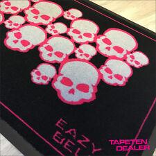 Totenkopf Fussmatte 900 / Rock / Tattoo / Girlie / Eazybelly / Pink / 50x70 cm