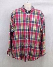 Mens Brooks Brothers 346 Button up Long Sleeve Red Plaid size XL/Extra Large
