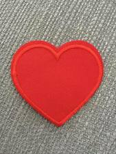 UK Iron/Sew on Love Heart Red Embroidered Patch Badge Transfer Valentine