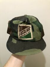 Vintage 70s 80s K Products K Brand Fusilade Patch Camo Snapback Trucker Hat Cap