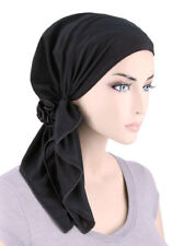 The Bella Scarf Pre-Tied Chemo Cancer Turban Blended Knit Raven Black