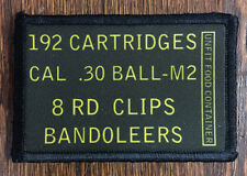 M1 Garand Ammo Can Morale Patch Tactical 30-06 Harvester Springfield WWII Korea