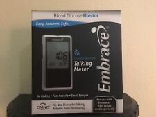 Omnis Health Embrace Blood Glucose Diabetic TALKING METER English & Spanish
