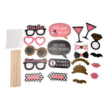 Photo Booth Props Hen Mustache on Stick Romantic Wedding Xmas Party Tools 20x hc