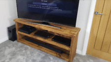 HANDMADE RUSTIC FARMHOUSE WOODEN TV UNIT / STAND - CAN MAKE ANY SIZE
