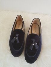 Massimo Dutti Blue Velvety Loafer Slip On Moccasin Driving Shoes Womens Size 7.5