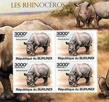 Rhinoceros (African Black Rhino) Stamp Sheet #5 of 5 (2011 Burundi)