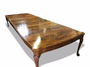 Beautiful 8ft to 20ft plus CMC Burr Walnut dining table range French polished