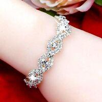 Bracelet Femme,Elegant,Chic,Belle Qualité,Argent,Brillante,Cristaux Autrichiens