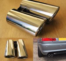 BMW E46 Ci Style Embout D'Echappement Double Sortie Sport Chrome Tuyau de 60mm
