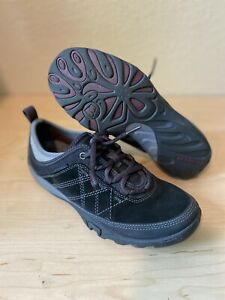 Merrell Womens Mimosa Glee Walking Shoes Black Gray J46580 Leather Lace Up 8 M