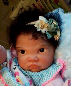 NEW biracial AA/ Asian  baby girl Fei Yen by B.B. sz 6 mo reborn by Peg Spencer