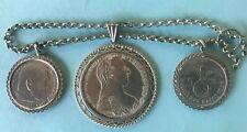 1v5 Silber Miederanhänger Münze Tracht Erbskette Geschnür Trachtenschmuck Bayern
