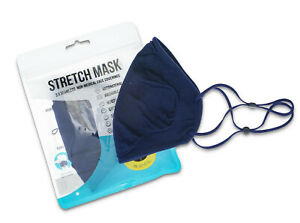Stretch Mask Black Seamless Face Coverings - Triple Pack Blue Face Mask