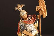 Saint Florian Holzfigur Peint Sculpté Tyrol du Sud 23 cm Carving
