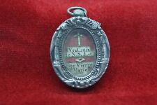 † 19TH BVM & DNJC TRUE CROSS STERLING SILVER RELIQUARY 2 RELICS FRANCE WAXSEAL †