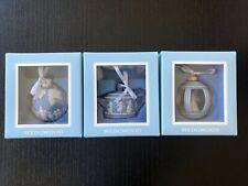 3- Nib Wedgwood Jasperware Christmas Ornaments- Shop Early!