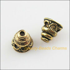 35 New Cone Flower Connectors Antiqued Gold Tone End Bead Caps 7.5mm